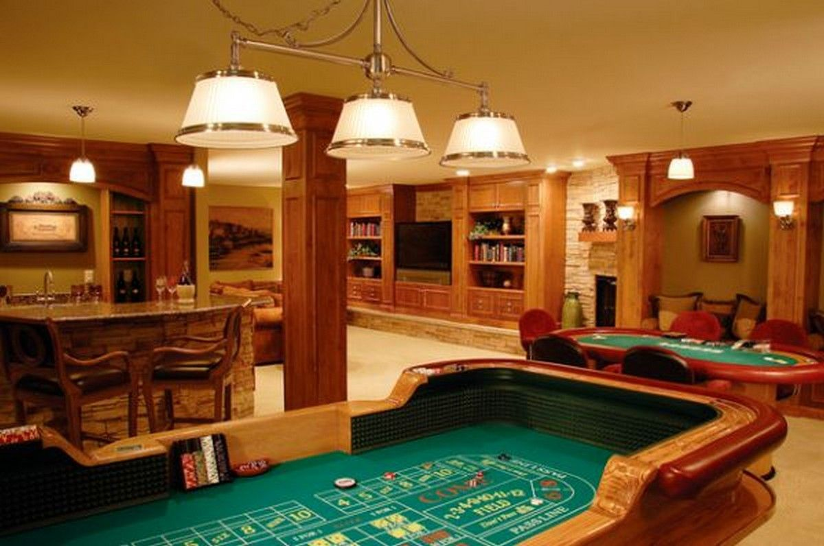 Home Bar Room Designs | Bar games, Game rooms and Poker table