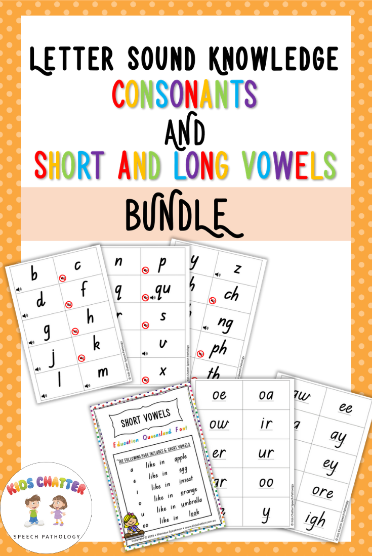 Letter Sound Knowledge Consonant Short Vowels And Long Vowels Kids Chatter Speech Pathology Letter Sounds Long Vowels Vowel [ 1102 x 735 Pixel ]