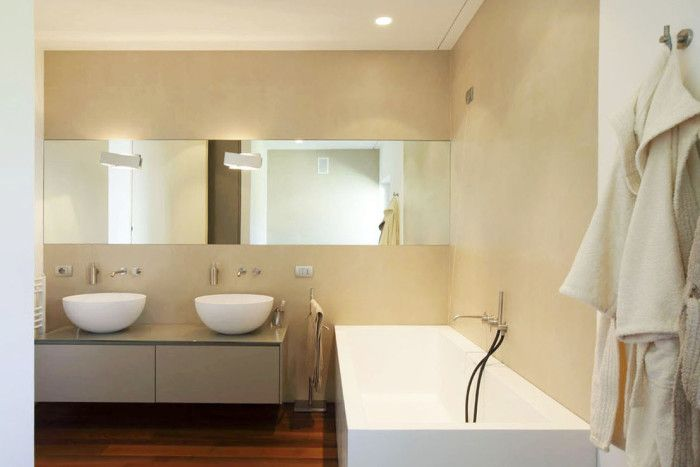 Bagno senza piastrelle bathroom without tiles s pinterest italian bathroom - Bagno senza piastrelle ...
