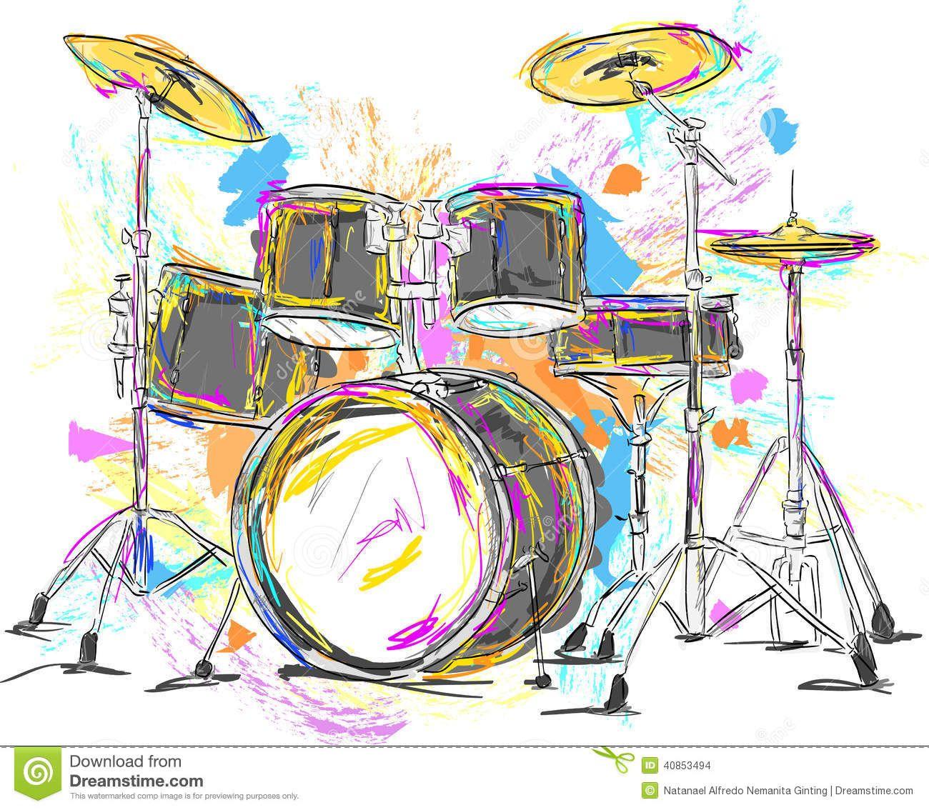 Paintings Of Drums Drum Painting Vector Art Vector Art