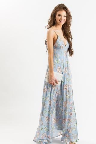 05cc81da74e Brooke Light Blue Floral Maxi Dress