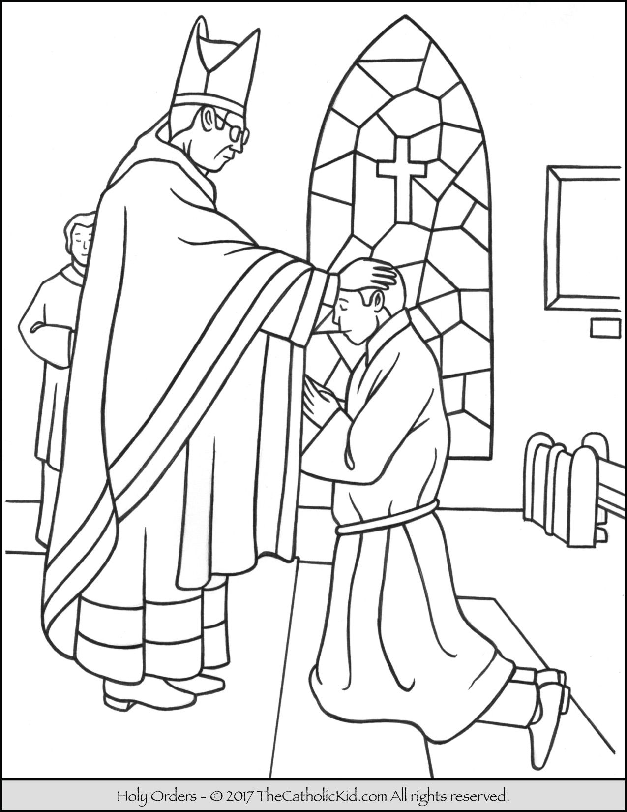 Sacrament Of Holy Orders Coloring Page Thecatholickid Com