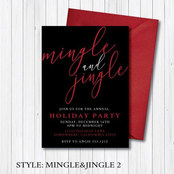 HOLIDAY PARTY INVITATION Christmas Party Work Party Etsy Angie