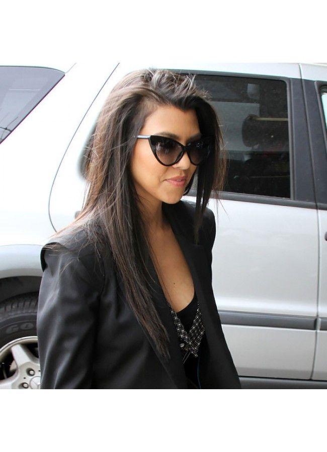 1b840cd6f453c Kourtney Kardashian Style Cat Eye Celebrity Sunglasses