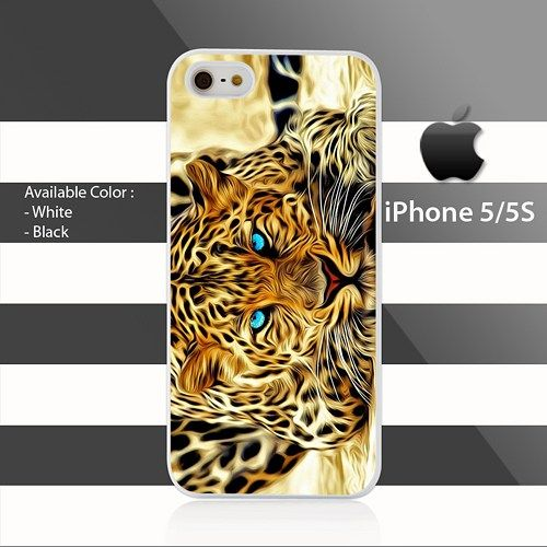 Blue Eyes Leopard iPhone 5 5s Case Cover