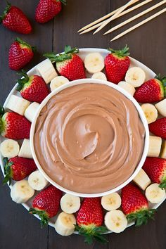 Chocolate Fruit Dip ~ whip this healthy and delicious dip up in minutes