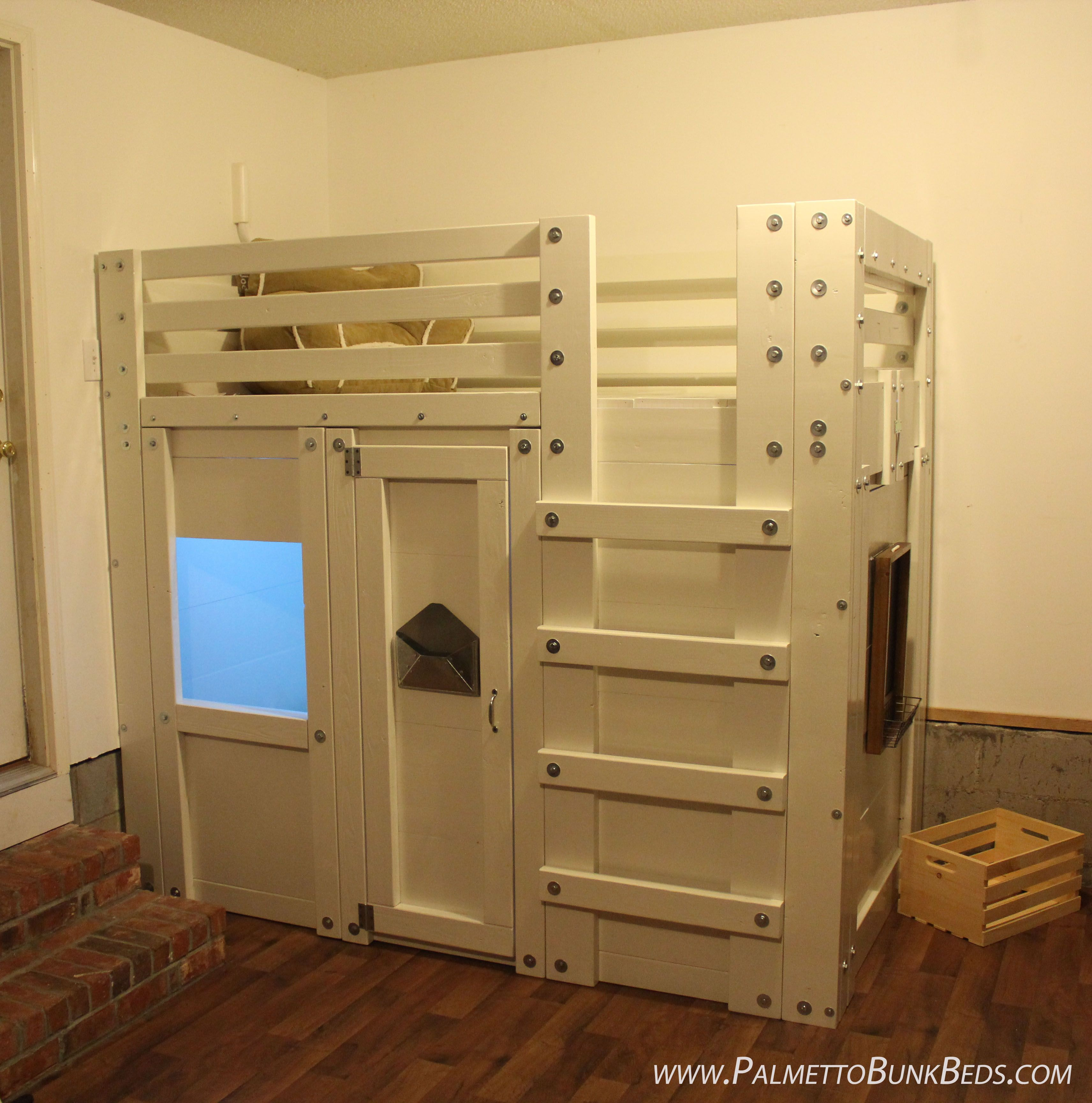 Twin Bed Fort In A Playroom In 2019 Loft Bed Plans Bunk