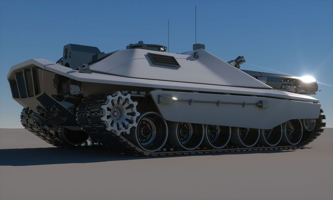 sci-fi future tank concept printable 3d model max obj fbx stl 5