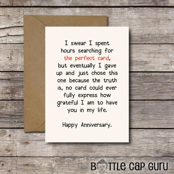 Download THE PERFECT CARD   Romantic Anniversary by BottleCapGuru - anniversary printable cards