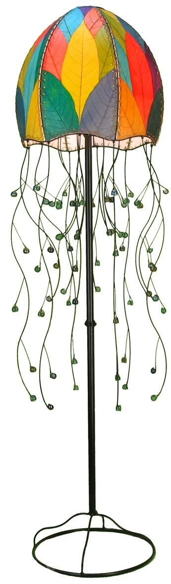 Eangee jellyfish multicolor cocoa leaves 64 high floor lamp eangee jellyfish multicolor cocoa leaves 64 high floor lamp aloadofball Images