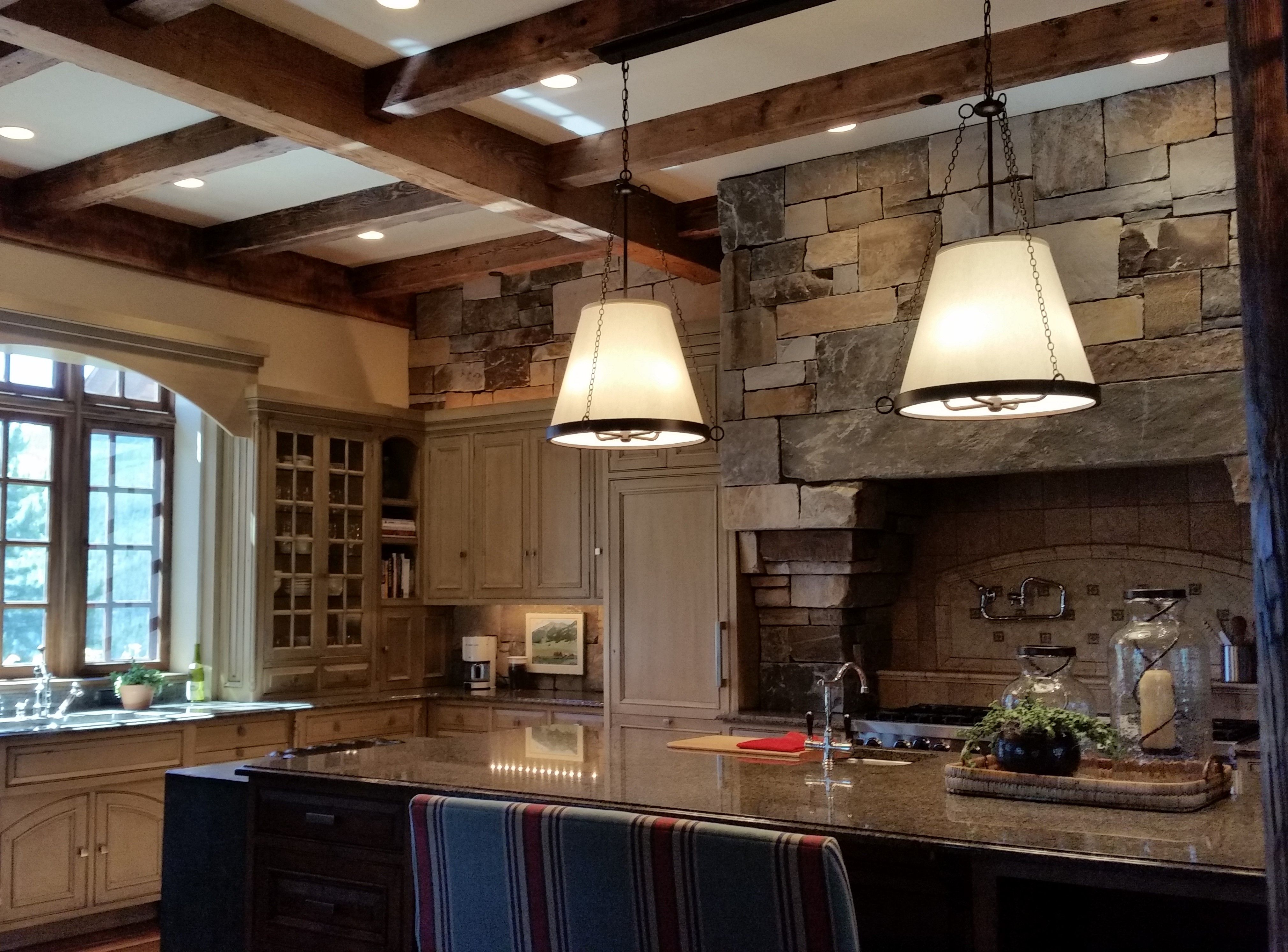 E Up Your Kitchen With Our Custom Light Fixtures This Is Designed By Jodi Shirkey Tate Interiors Yellowstone Club Mt