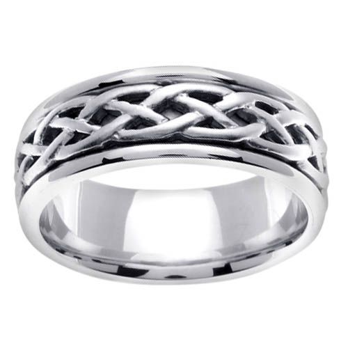Ring Mens Celtic Wedding Band In 65mm 14kt Gold From DeBebians