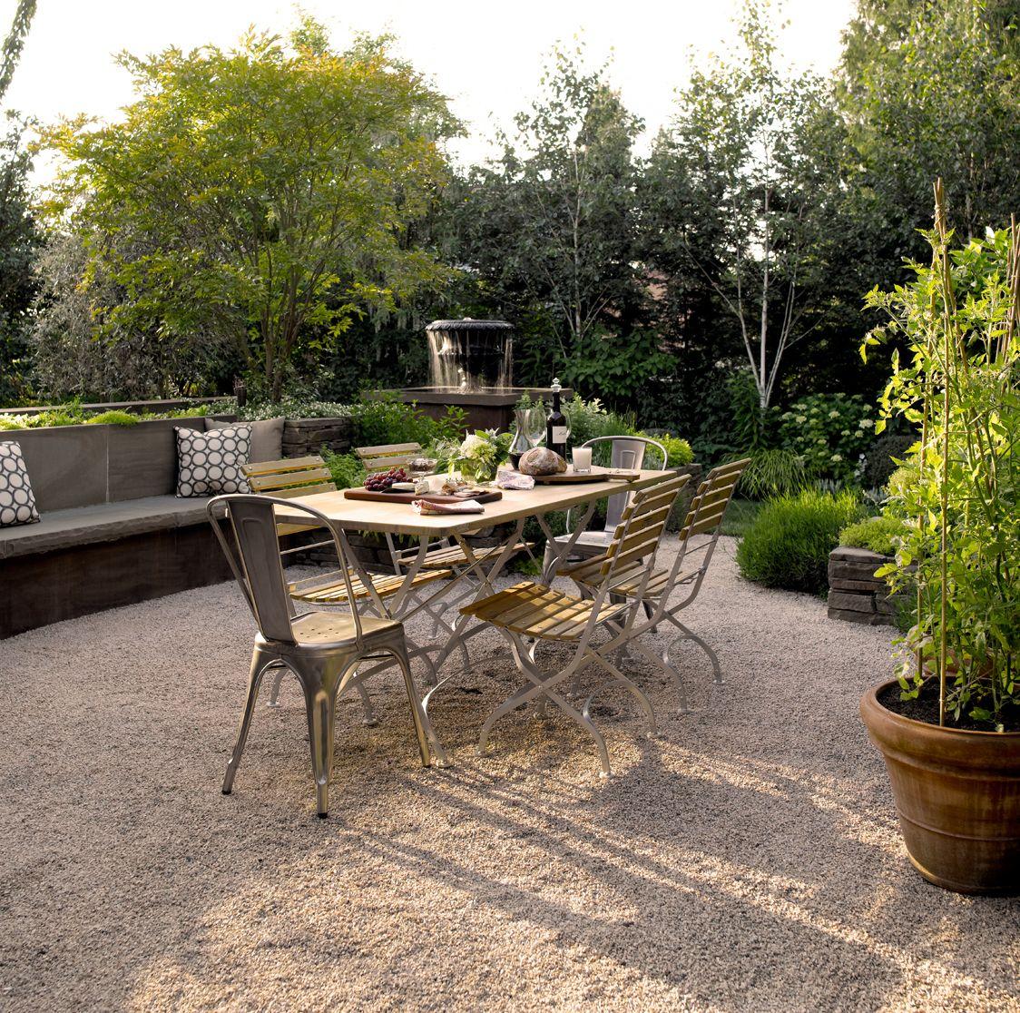 Backyard Patio Diy: French Style Gravel Patio