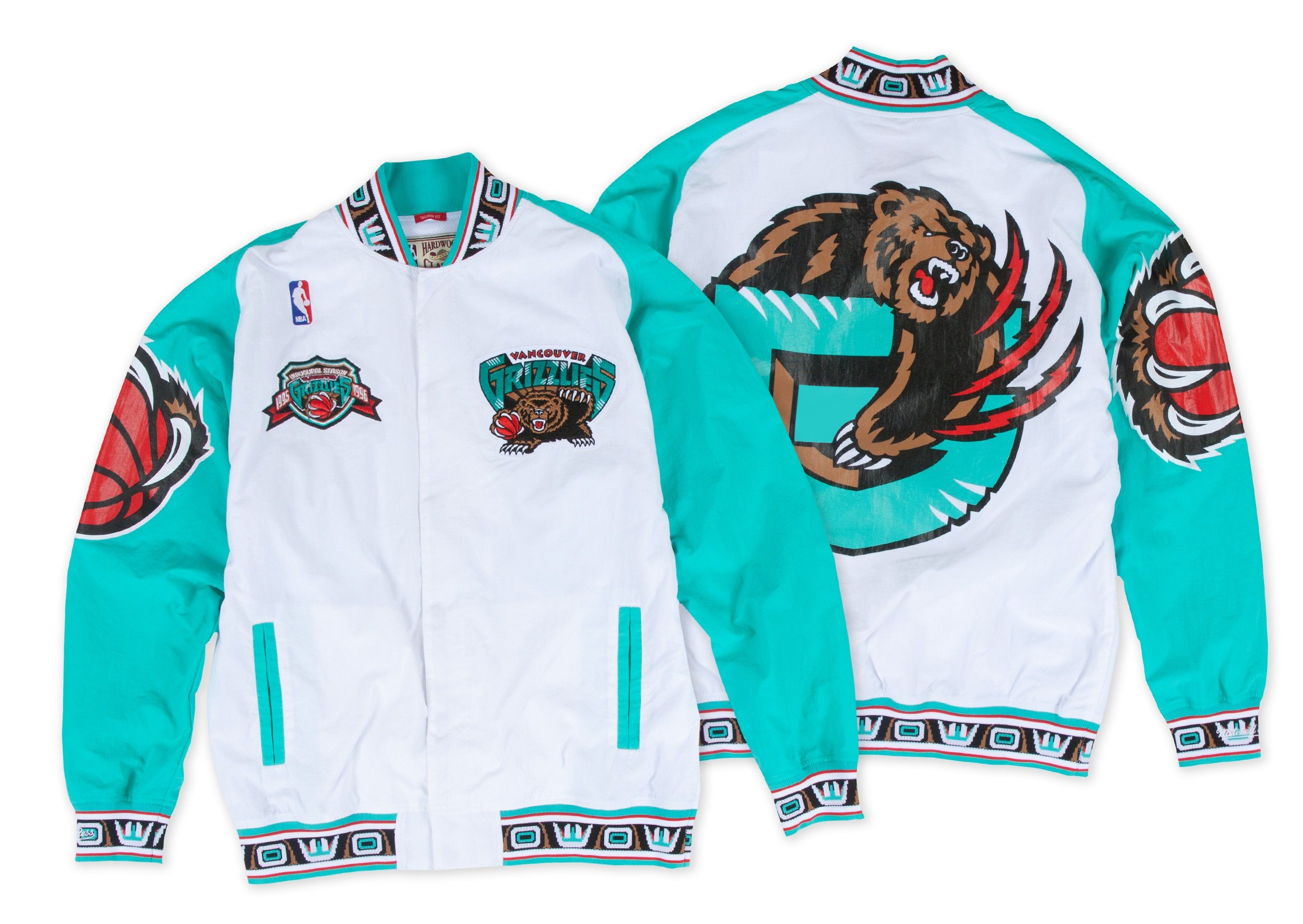 online store b7ace 65ff6 1995-96 Authentic Warm Up Jckt Vancouver Grizzlies - Shop Mitchell   Ness  NBA Outerwear and Jackets
