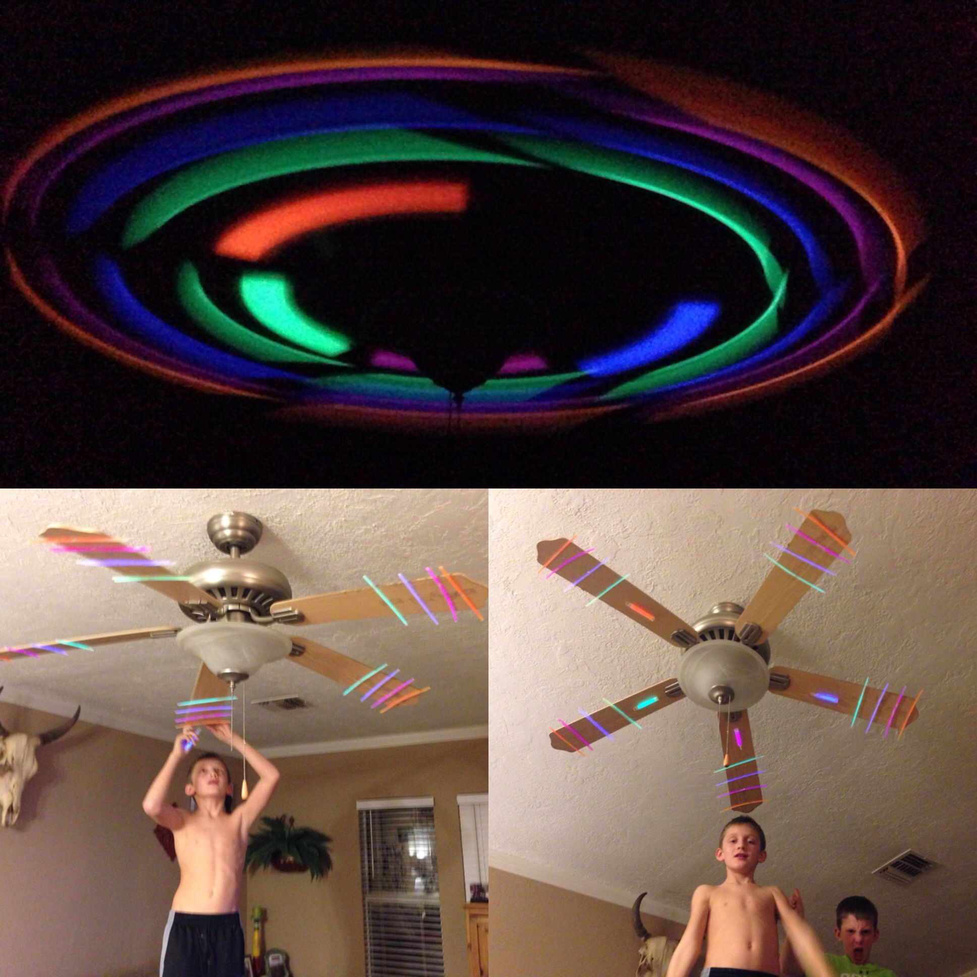 Glow Sticks Ceiling Fan Friday Night Fun Glow Party Neon