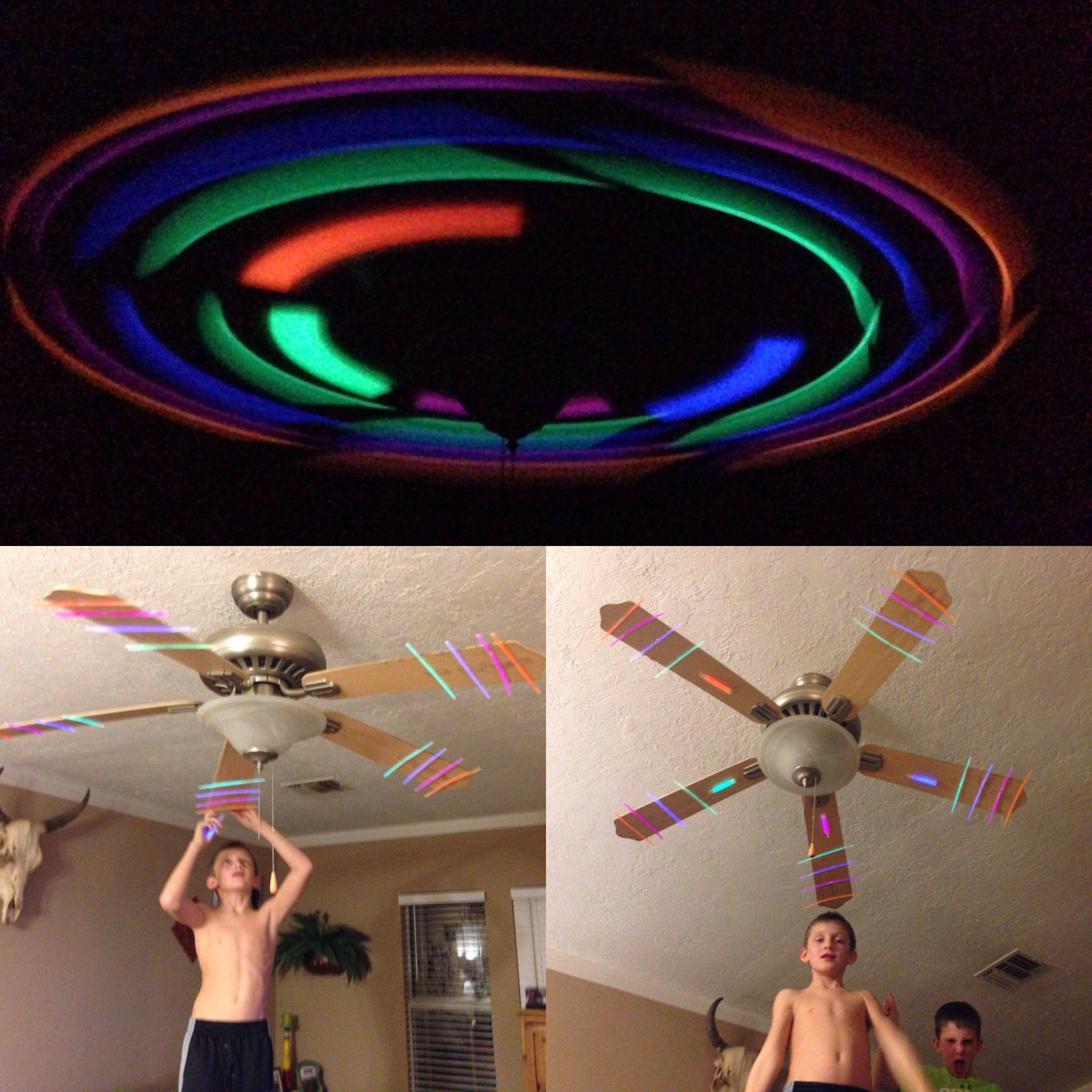 Glow Sticks Ceiling Fan Friday Night Fun Glow Party Neon Birthday Party Neon Party