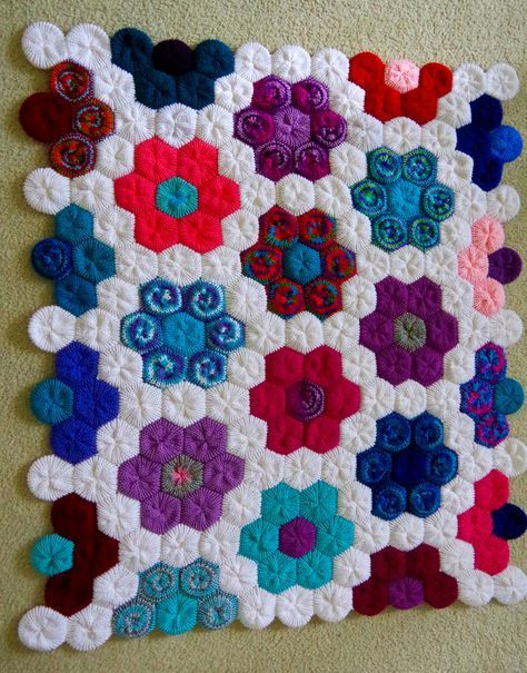 How to Make a Hexagon Flower Blanket with your Addi Knitting Machine ...
