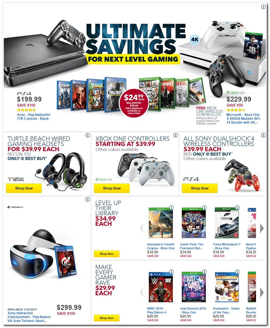 Best Buy Black Friday 2017 Ads And Deals Year After Year Best Buy Is One Of The Best Places To Find Black Cool Things To Buy Black Friday Xbox One Controller