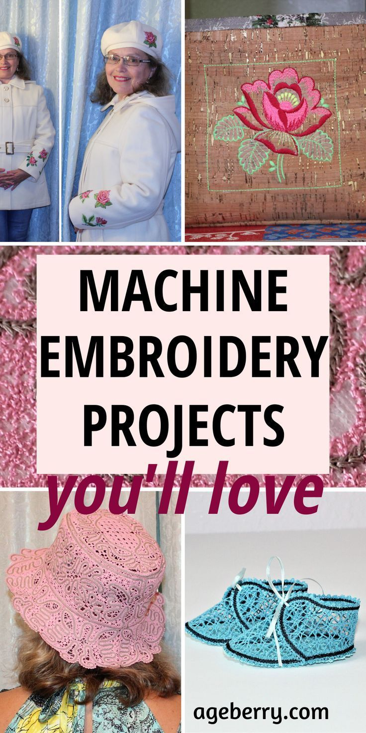 Machine embroidery projects (With images) | Machine ...