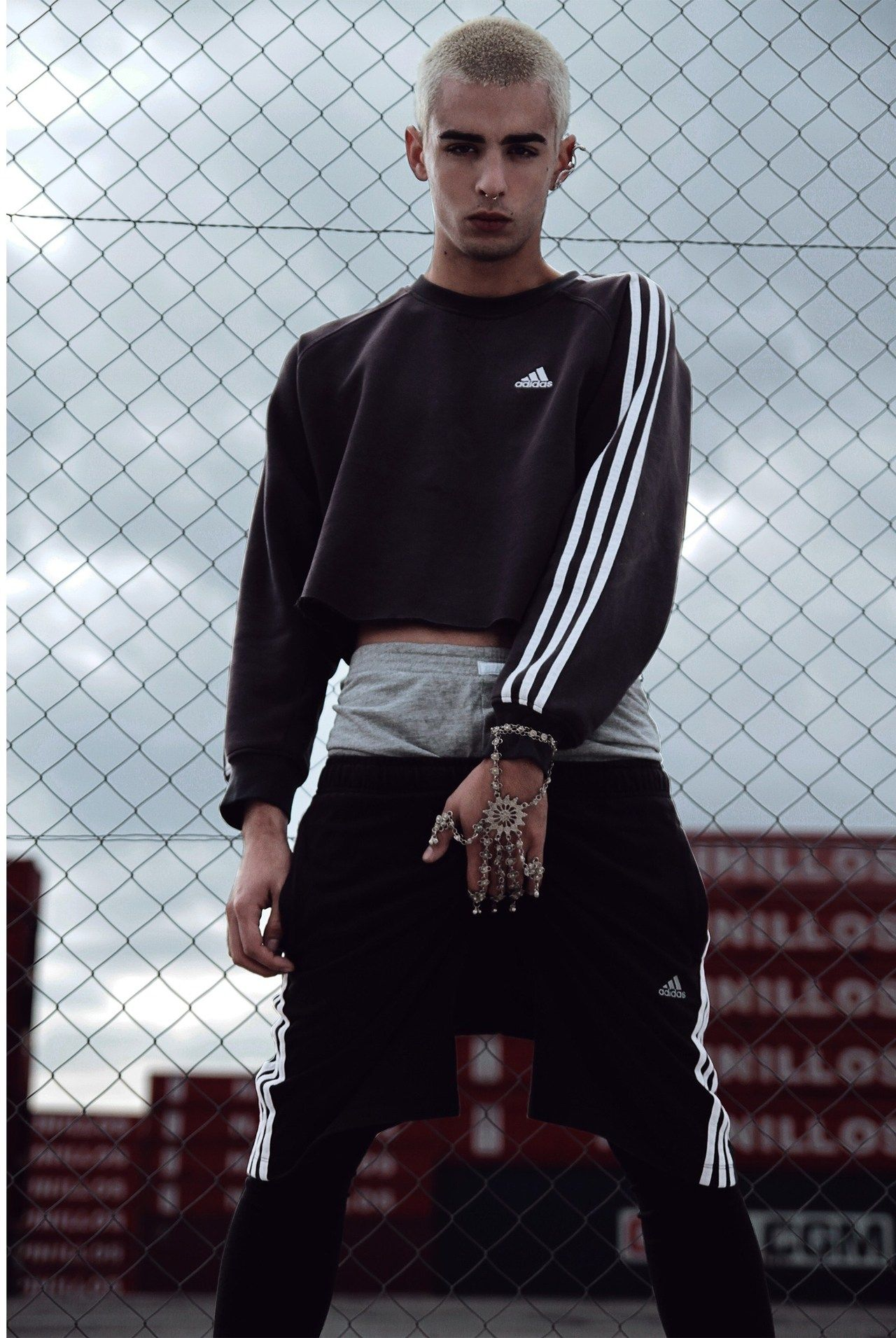 health goth goth sportswear high top sneakers menswear pants