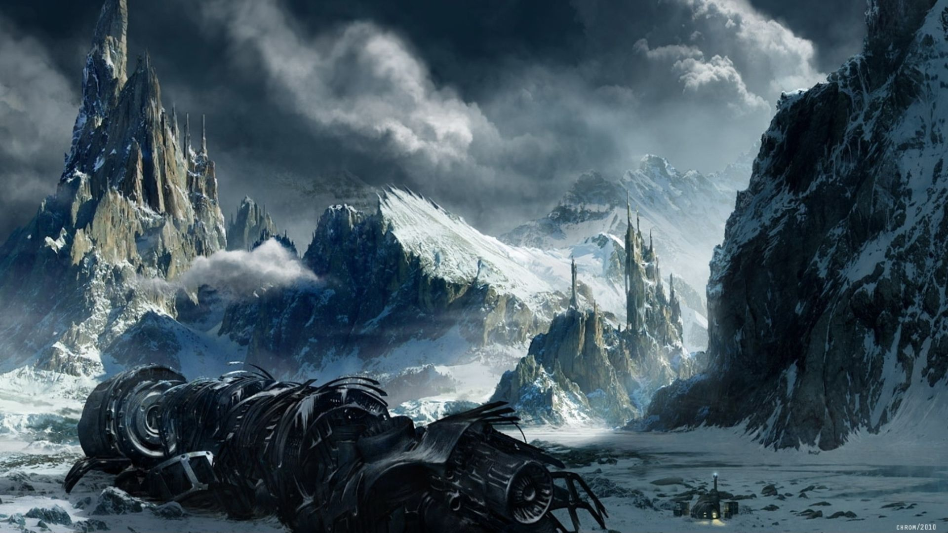 Sci-Fi Landscape Wallpaper | fantasy landscapes wallpapers ...