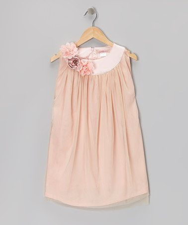 ca0b1075266c Take a look at this Blush Floral Tulle Dress - Toddler   Girls by ...