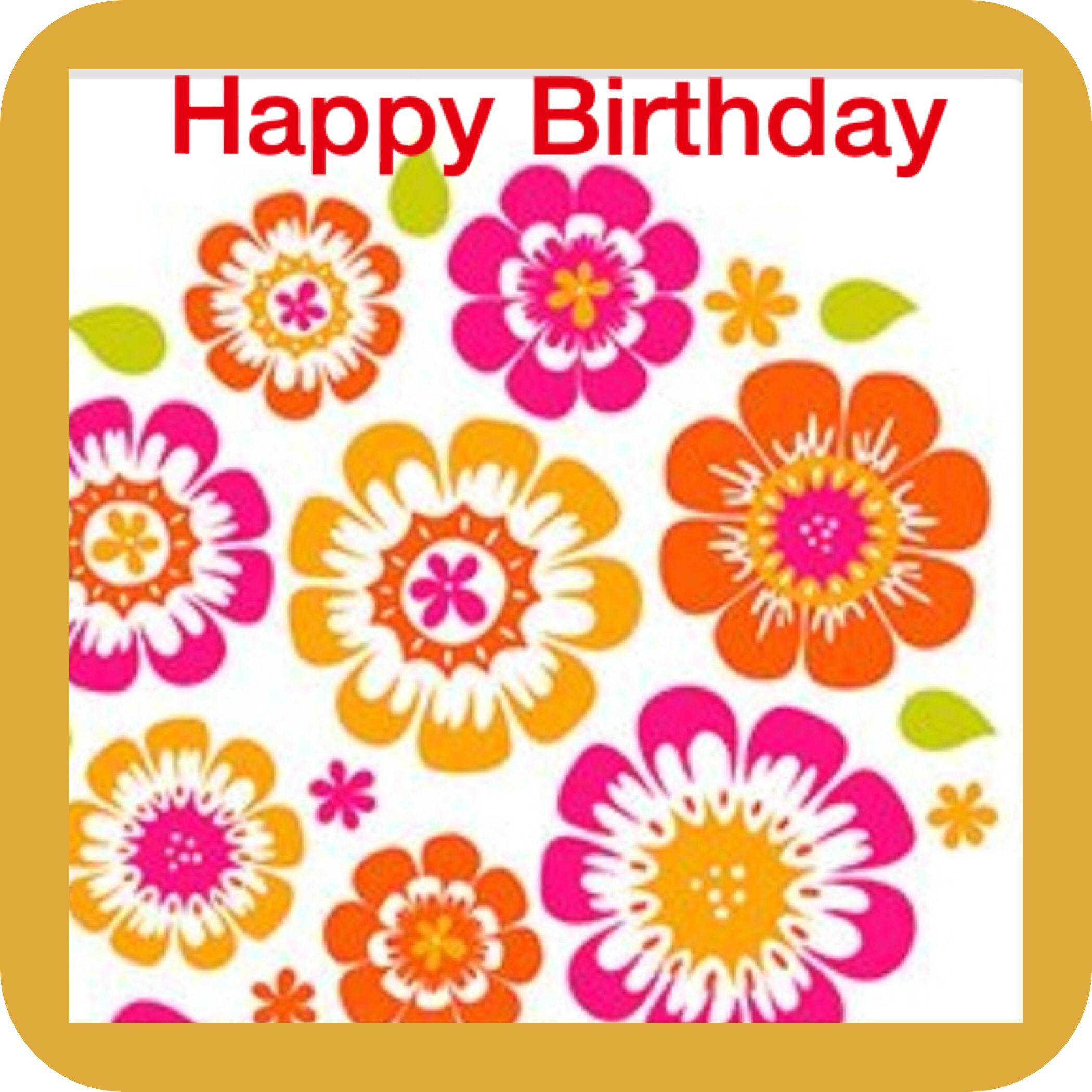 girl birthday meme floral
