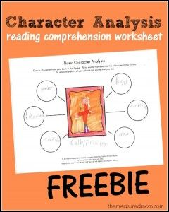 Free Character Analysis Worksheet For Kids  Reading Comprehension