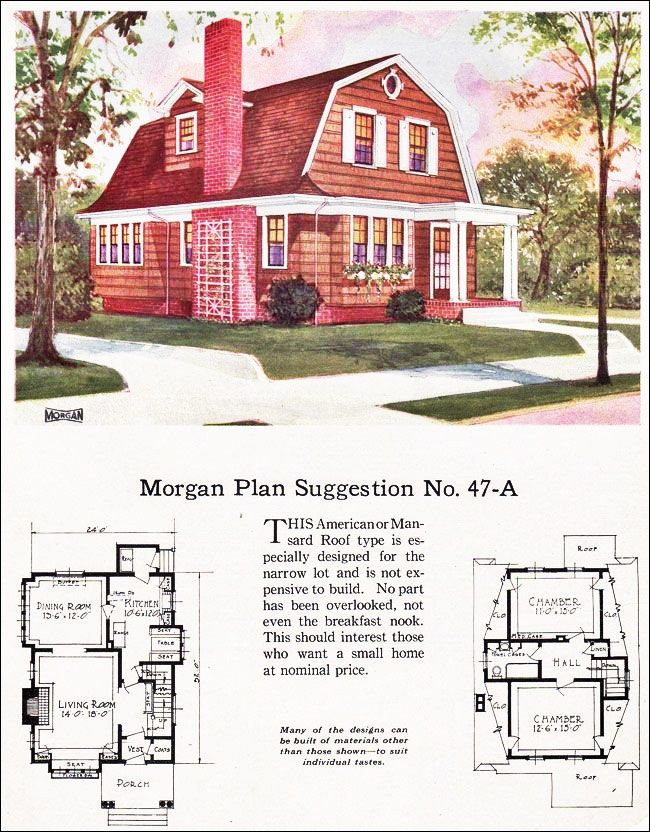 The Morgan Floor Plan Cute Small 2 Bedroom Cottage With A Gambrel Roof Colonial House Plans Dutch Colonial Homes Vintage House Plans