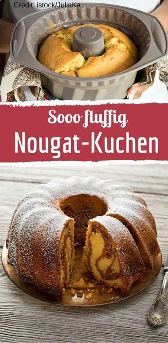 Rezept für köstlichen Nougat-Kuchen #spekulatiuskuchen