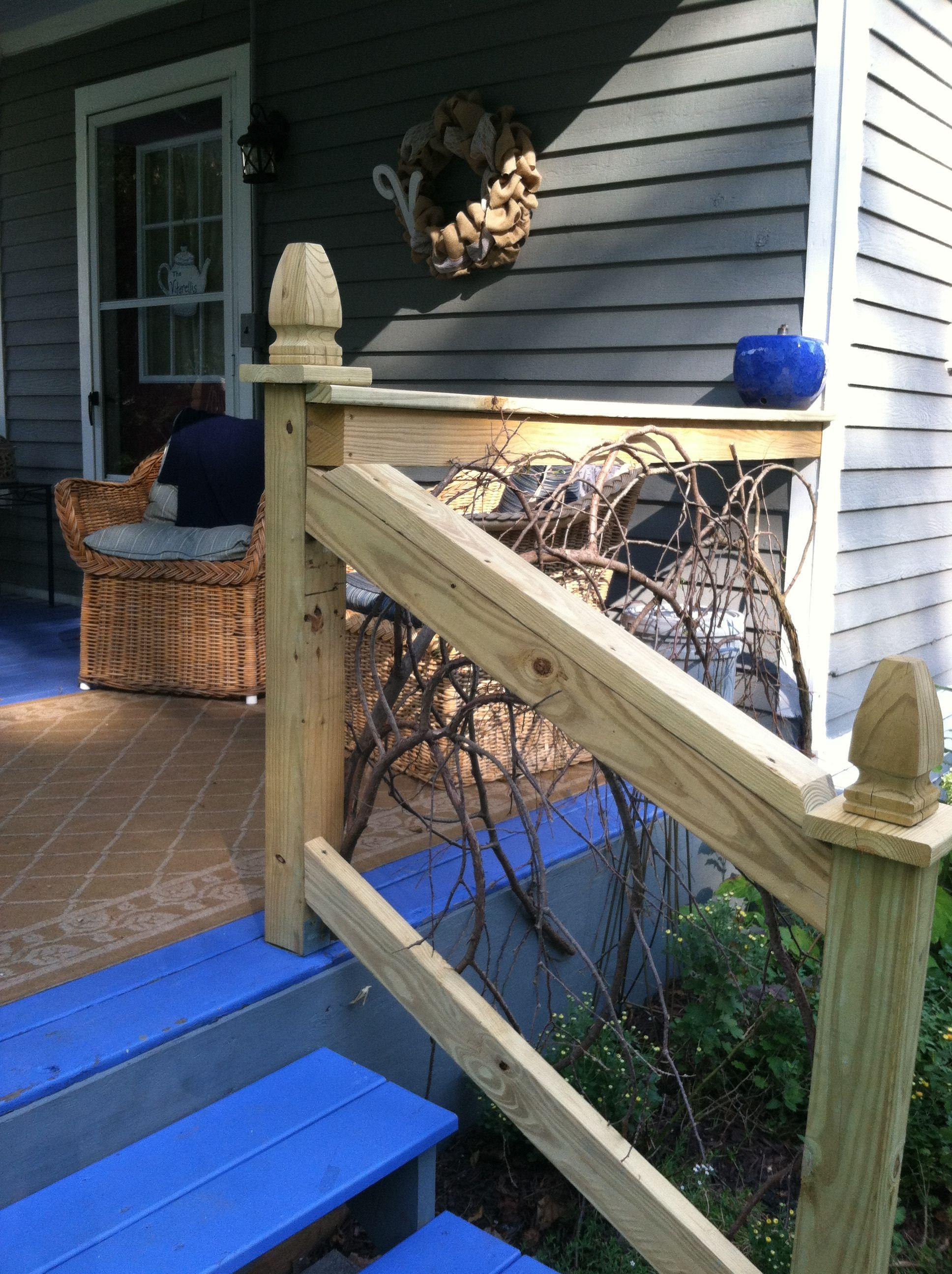 Handmade cedar railings by Ken Hovis. Perfect for a family ...