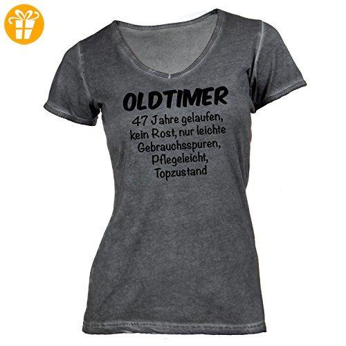 Damen T-Shirt V-Ausschnitt - Oldtimer Geburtstag 47 Jahre - Birthday 47  Years