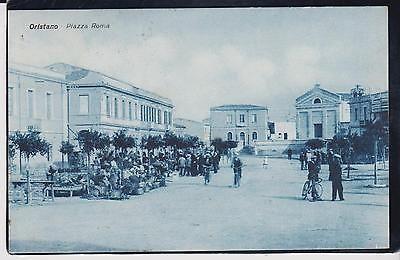 ORISTANO PIAZZA CON DONNE CHE VENDONO PRODOTTI AGRICOLI 1930