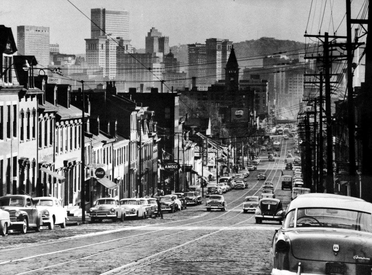 Pittsburgh 1954 Pittsburgh City Pennsylvania History Pittsburg Pa