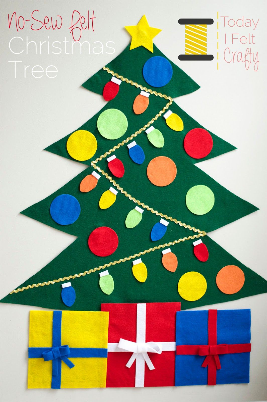 No-Sew Felt Christmas Tree - Tutorial & Free Pattern by Today I Felt ...