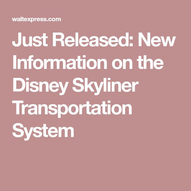 Just Released: New Information on the Disney Skyliner Transportation System