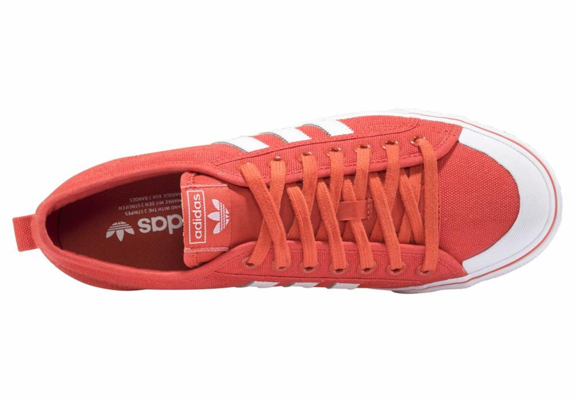 ADIDAS ORIGINALS Sneaker 'Nizza' Herren, Orangerot, Größe