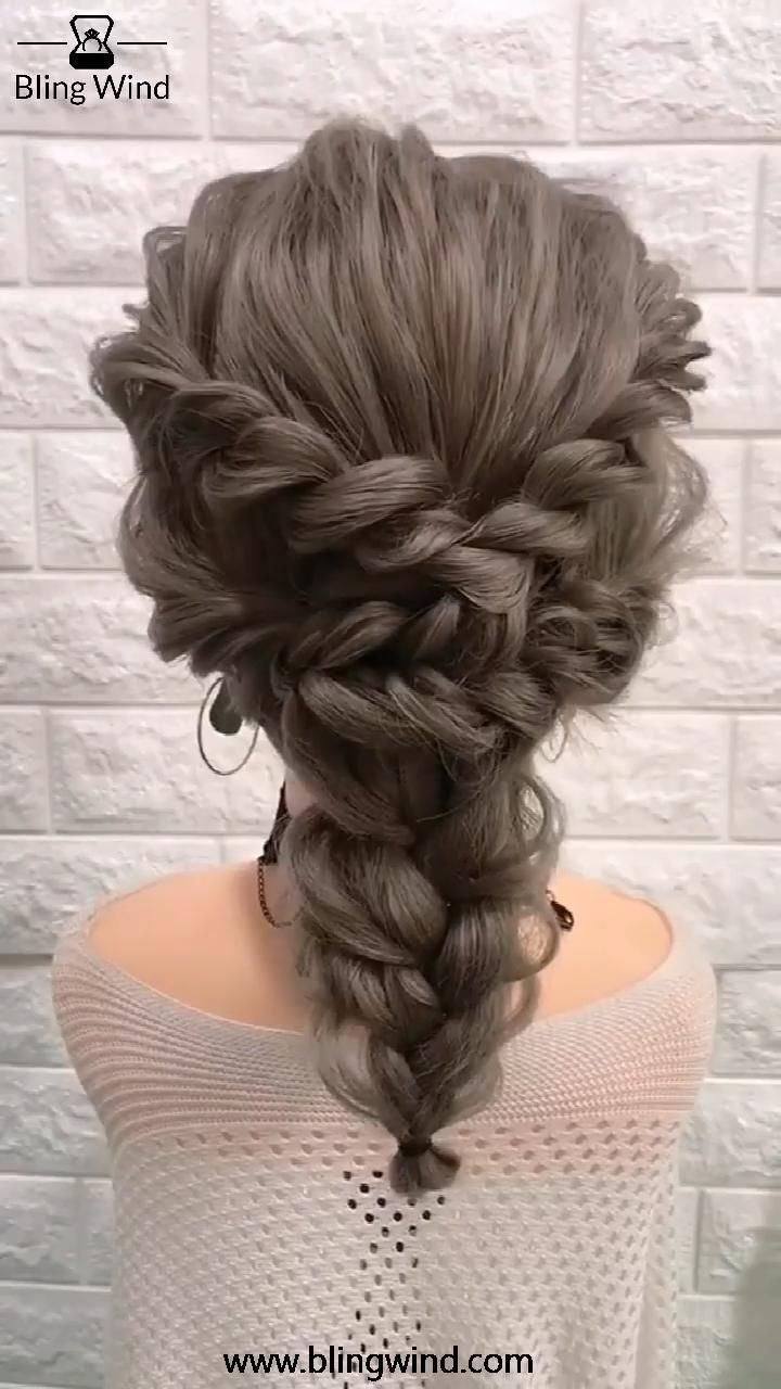 Ash Brown Fishtail Braids Ponytail Hairstyle -   12 homecoming hairstyles Updo ideas