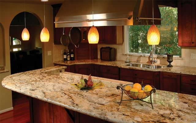 Pin By Beck Dowdy On I Love Kitchen Ideas Kitchen Remodel Countertops Gold Granite Countertops Countertops