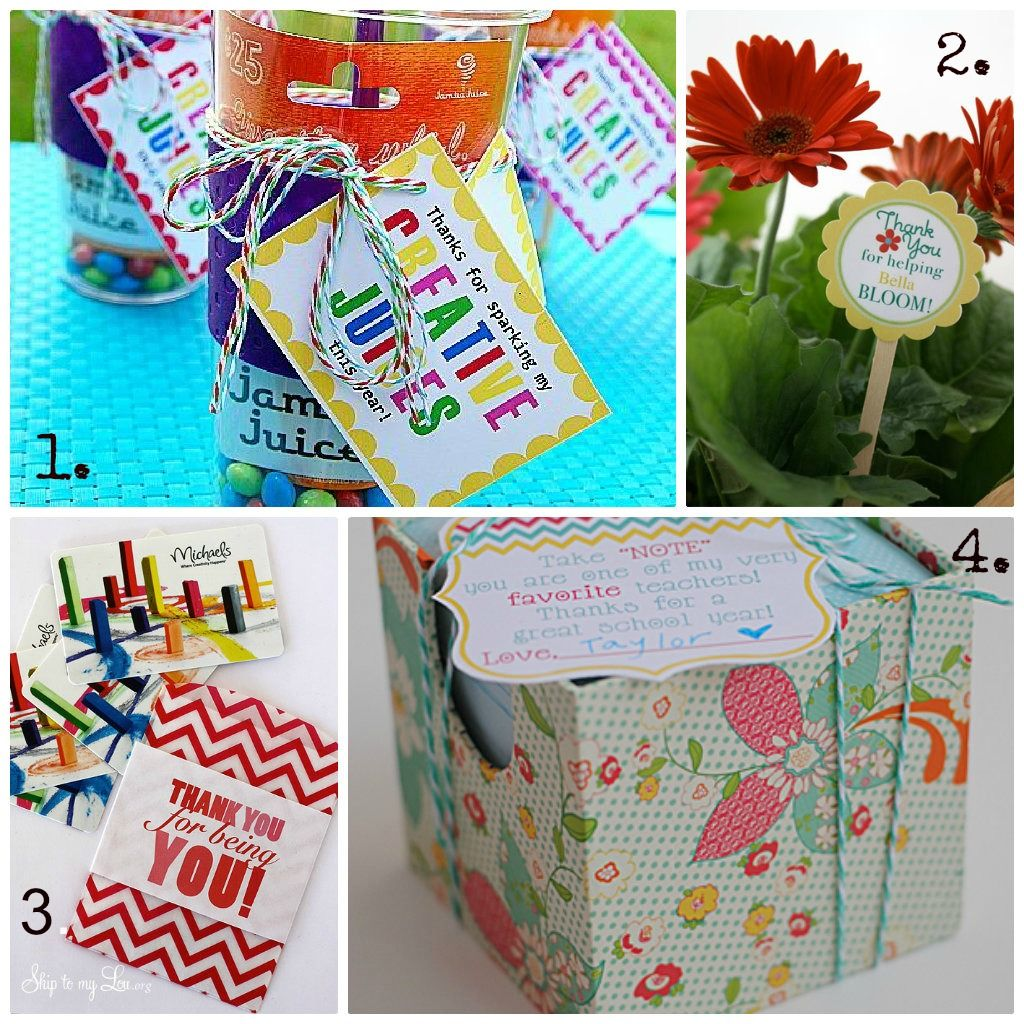 Classroom Thank You Ideas ~ Gift ideas to thank a teacher may is national