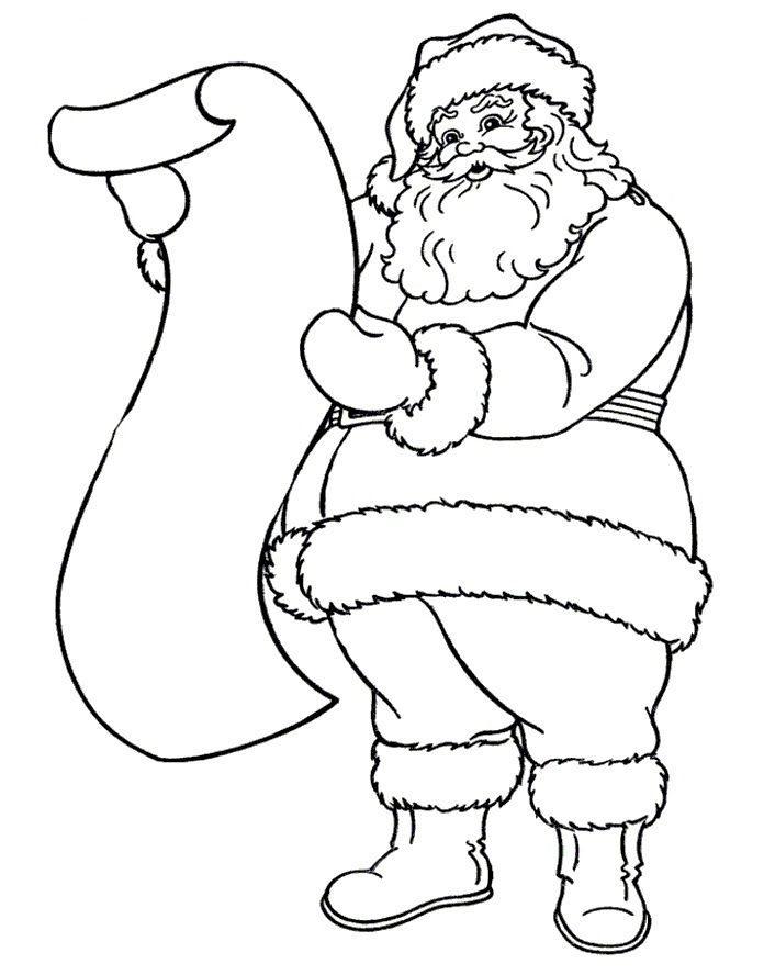 Santa Drawings Download And Print These Drawing Of Santa Claus