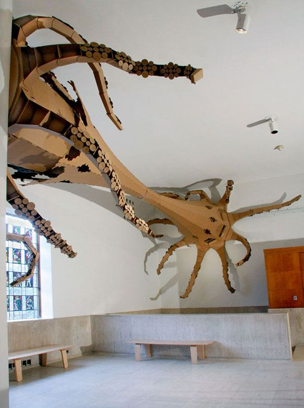 Cardboard Beam with Giant Squid