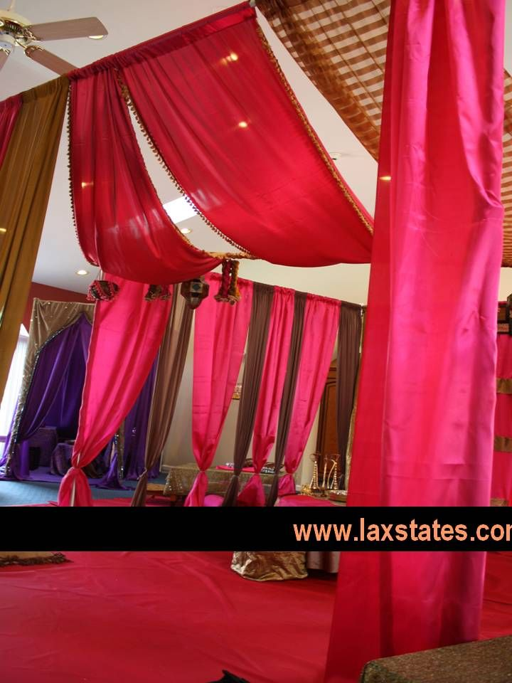 mehndi fabric canopy wwwlaxstatescom - Maroon Canopy Design