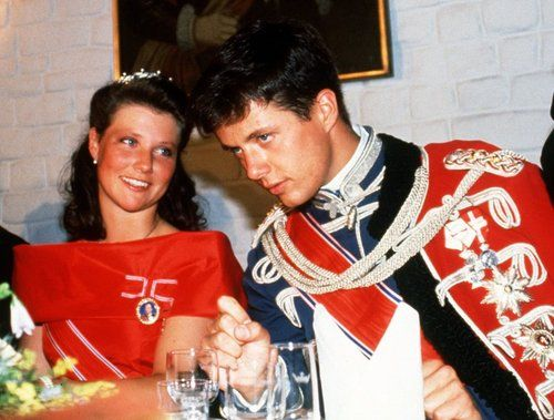 Crown Prince Frederik with Princess Martha-Louise of Norway