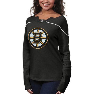 Reebok Boston Bruins Womens Fan Diva Jersey Shirt - Black 0221fd9bb1