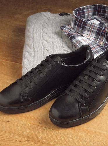 0e55e09e75d Geox Leather Sneakers in Black