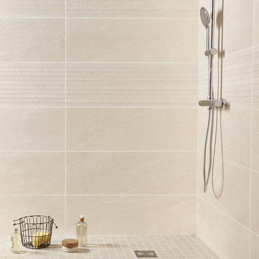 Carrelage mural milano premium en fa ence beige 29 8 x 89 8 cm salle de bain beige bathroom - Decor mural salle de bain ...