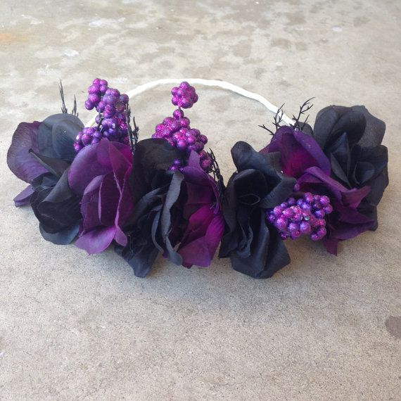 Gothic Fairy  Black Purple Roses  flower by LoveAndGlamorous ... 05935aa7157