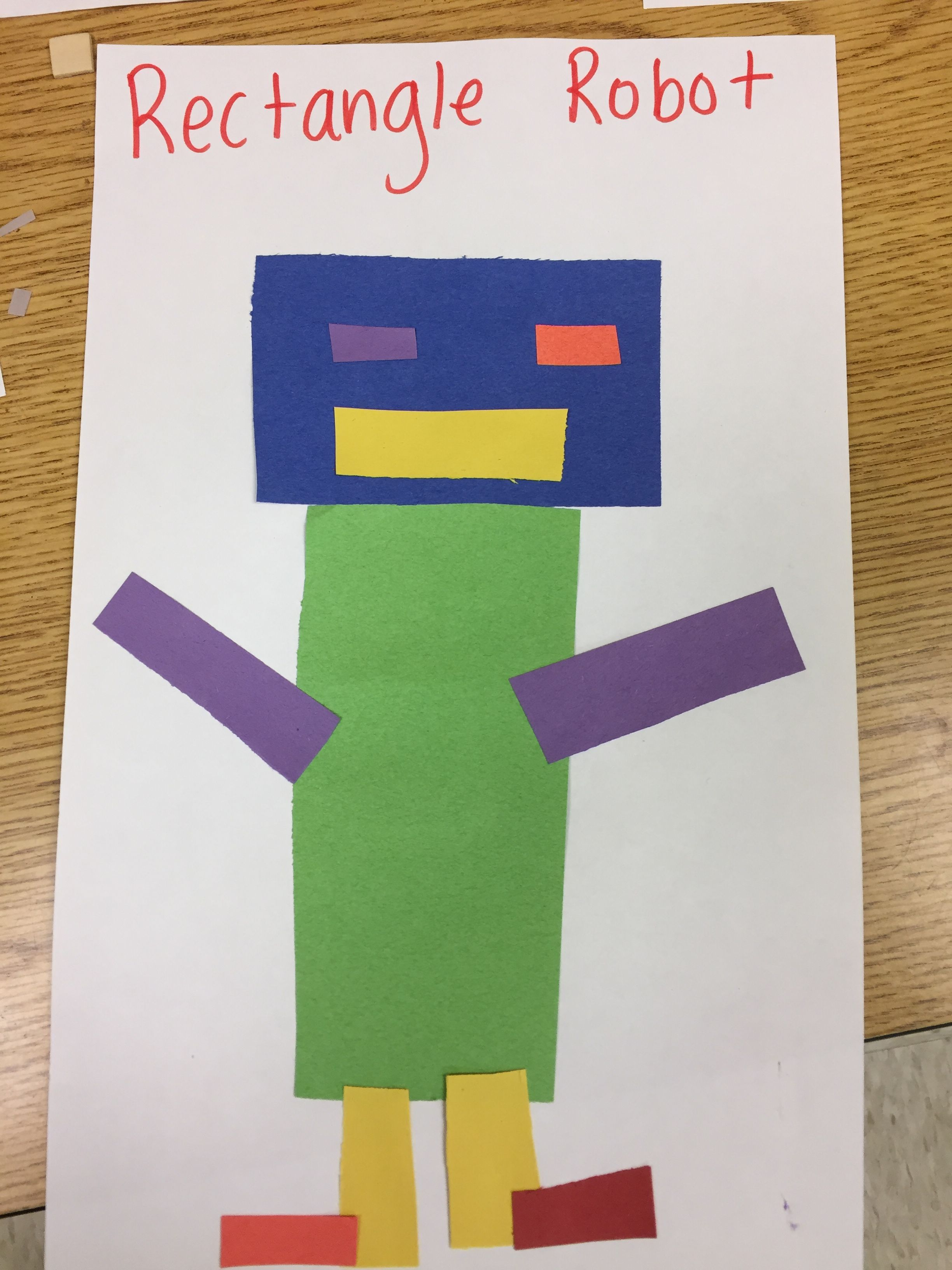 Rectangle Robot Shapes Preschool Crafts Shapes Preschool Art Activities For Toddlers [ 3264 x 2448 Pixel ]