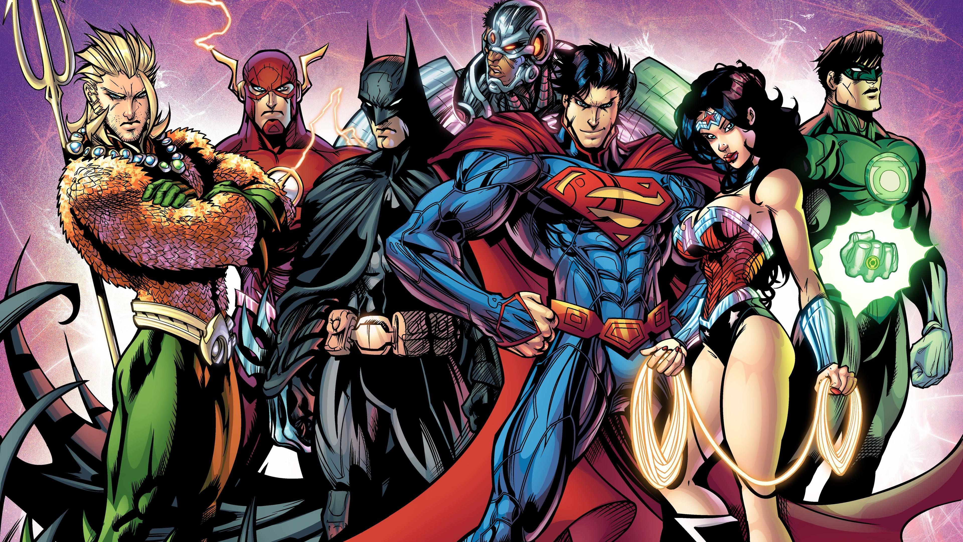Justice League Superheroes Artwork 8k Aquaman Artwork Justice League Artwork Batman Wallpaper